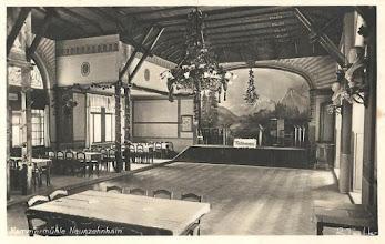 Photo: Wünschendorf im Erzgebirge  Sachsen  Gaststätte Hammermühle Innenansicht  -  Alte Postkarte um 1920