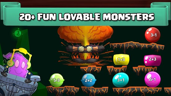 Monster Math: Math Facts Practice Game for kids Screenshot