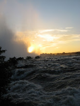 Photo: Just upstream of the falls a bit... the water was moving...