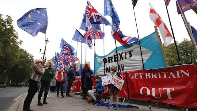 Ciudadanos británicos a favor del Brexit.
