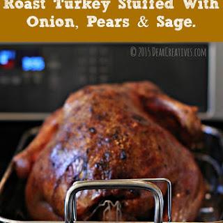 Roast Turkey With Onion, Pears And Sage