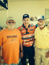 Photo: President Jerry Echols, Bassmaster Elite Pro Mark Menendez, Board Member Randy DiSanto