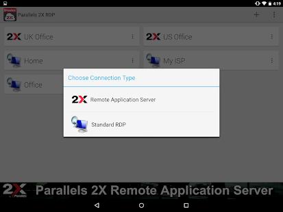 Parallels 2X RDP– Vignette de la capture d'écran