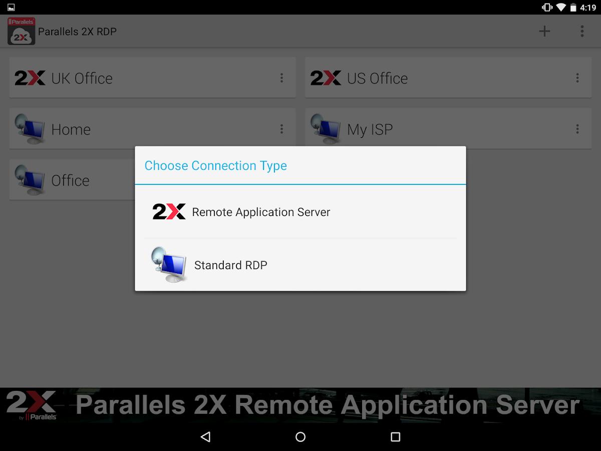Parallels 2X RDP - screenshot