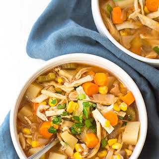 Crock Pot Spicy Chicken Soup.