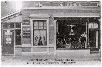 Photo: 1929 Rijwielhandel Duitenhuis van G.J. van Rooij , Bredascheweg 19 later Haagweg