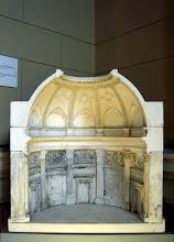 Photo: Az Ybl Miklós által tervezett kupola gipszmodellje
