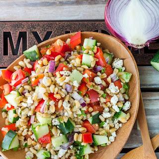 Healthy Greek Freekeh Salad