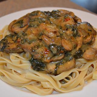 Lemon Basil Spinach & Mushroom Pasta.