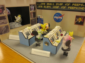 Photo: SpaceTweep Peeps!  For real, a marshmallow Mission Control in the NASA HQ Library, LOL!
