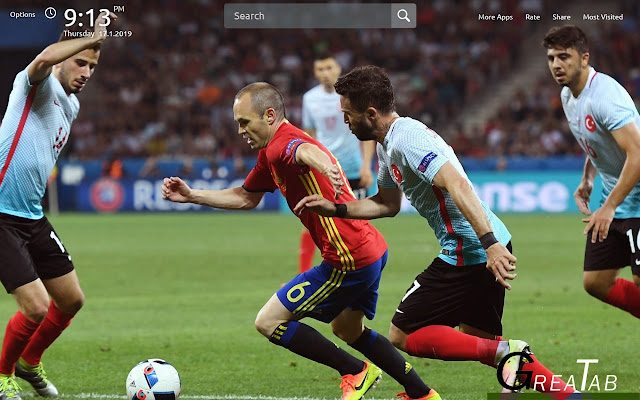 Andres Iniesta Wallpapers Theme |GreaTab