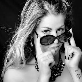 Kat by Sergio Savi - People Portraits of Women ( glasses, black and white, woman,  )