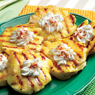 Grilled Pineapple with Rum and Coconut