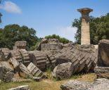 Fallen columns in Ancient Olympia
