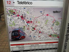 Photo: The Hop-on - Hop-off bus is a quick way to see what you want to see more of in Quito.