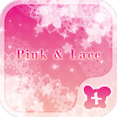 Cute wallpaper-Pink & Lace-