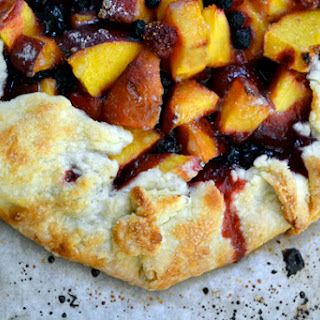 Peach, Strawberry & Blueberry Galette.