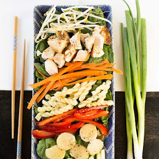 Asian Spinach-Chicken Salad