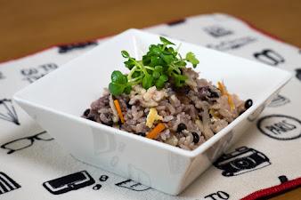 黒千石レシピ:黒千石大豆入り混ぜご飯・作り方