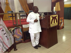 Photo: Proprietor of Gregory University, Uturu, Chief (Dr) Gregory Ibe, speaks to participants