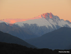 Photo: (Year 2) Day 288 - The  Mountains at Sunset from the DOC Campsite at Pleasant Flats