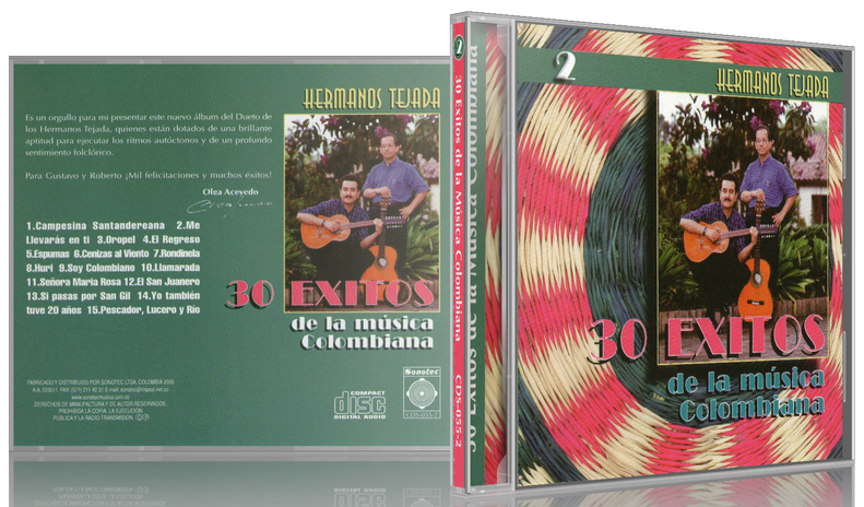 Hermanos Tejada - 30 Éxitos De La Música Colombiana 2 (2000) [MP3 @320 Kbps]