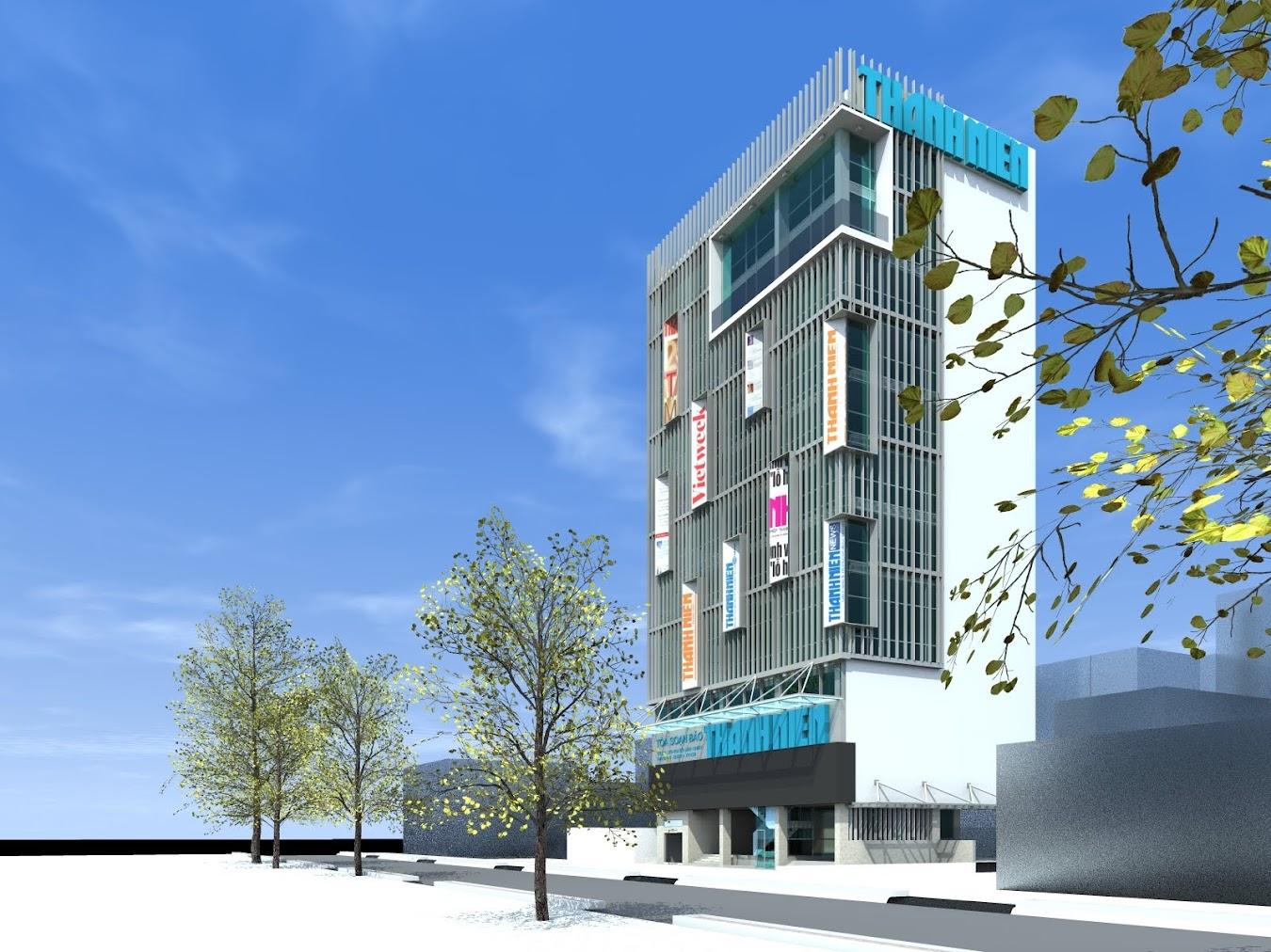 Mô hình thiết kế 3d trụ sở báo Thanh niên