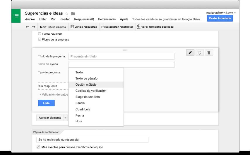 Formularios de Google: Encuestas y formularios fáciles de crear para ...