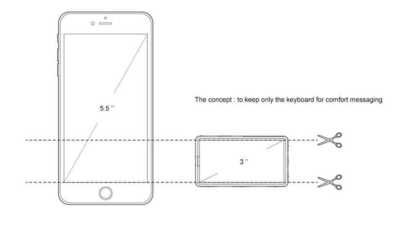 Minima es un pequeño concepto de teléfono que demuestra que menos es más