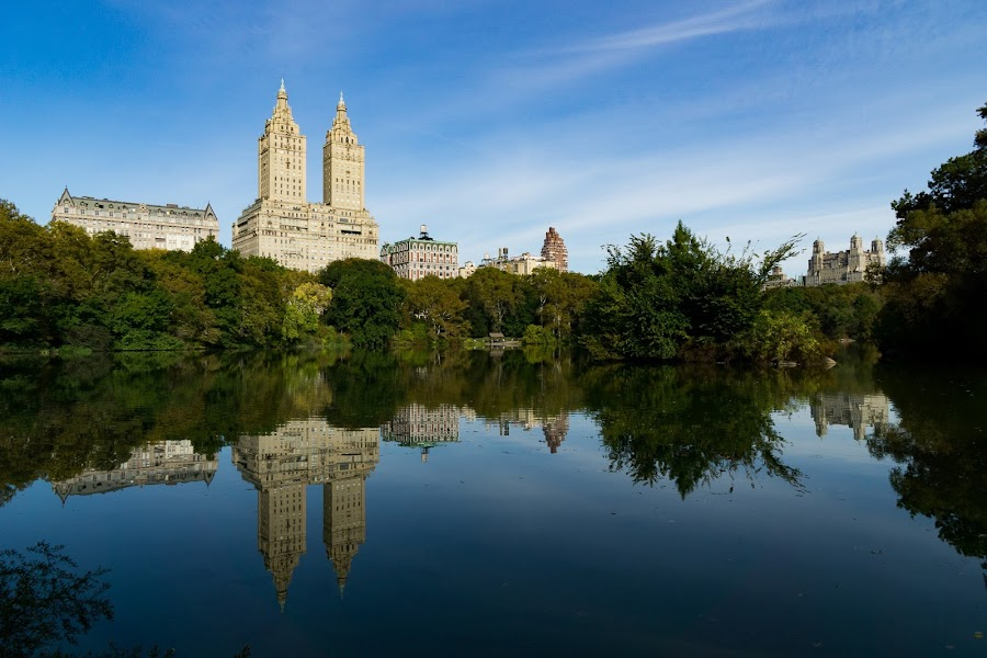 Central Park by VAM Photography - City,  Street & Park  Skylines ( reflection, nature, lake, architecture, landscape,  )
