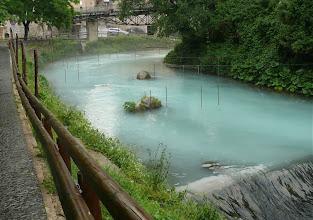Photo: l'acqua lattiginosa dopo la pioggia