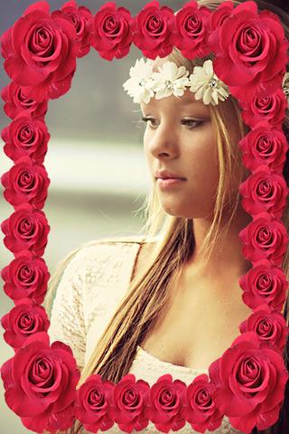 Basic Rose Flower Photo Frame