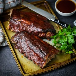 Baby Back Ribs with Bourbon BBQ Sauce