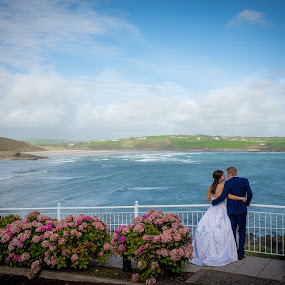 Just the two of us ..... by Paul Duane - Wedding Bride & Groom ( wedding, candid, view, scenery, landscape, bride, groom )