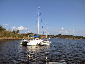 Photo: Safe in Rørendal for three weeks with Frode's boat along side.