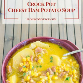 Crock Pot Cheesy Ham Potato Soup