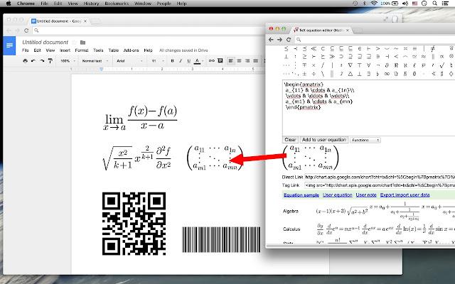TeX equation editor - Chrome Web Store