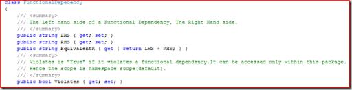 Functional Dependency C#