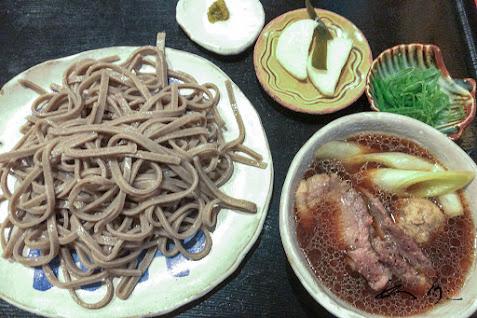 黒の太麺「鴨南蛮せいろ」