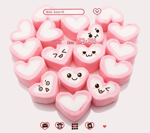Marshmallow Hearts +HOME Theme 1.0.0 Windows u7528 1