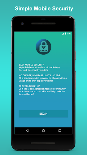MyMobileSecure Unlimited VPN Android App Screenshot