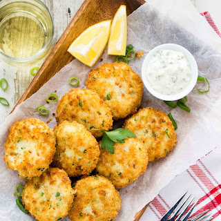 Fish Cakes with Lemon Caper Mayo.