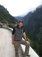 Photo: Kurt in China above Zhangmu