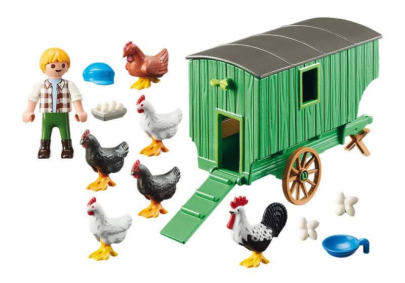 Contenido real de Playmobil® 70138 Gallinero