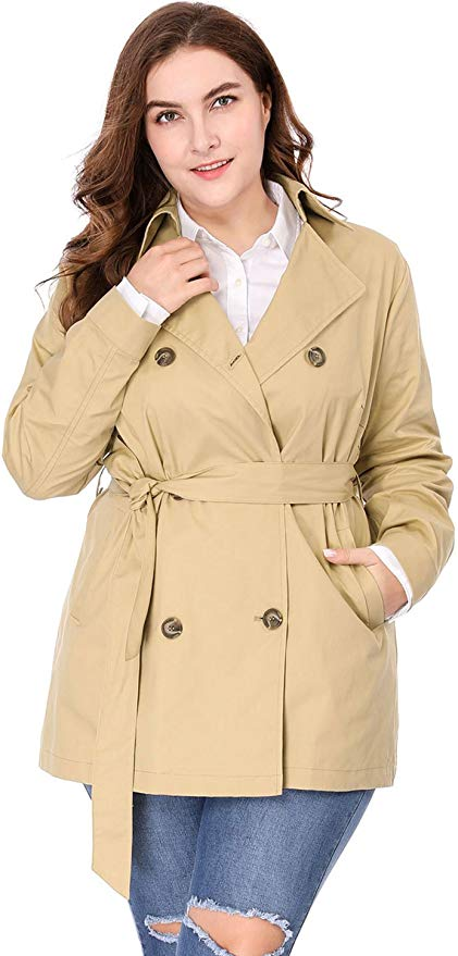 plus-size fall jackets: trench coat