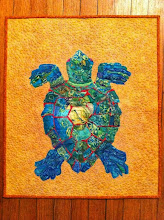 Photo: My sea turtle quilt (pattern copyright Susan Carlson) will be on display at the art show as part of the Conway Festival of the Hills today (my town's annual fall festival).