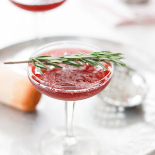 Pomegranate Rosemary Cocktail.