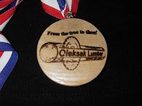 Photo: Finished medal Oleksak Lumber side...