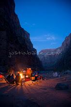 Photo: Night shot of camp while rafting the Grand Canyon. Grand Canyon NP, AZ.