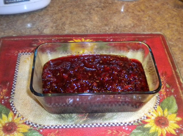 Poodles' Cranberry Orange Sauce Recipe